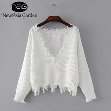 Spring Jumper Sweater Batwing