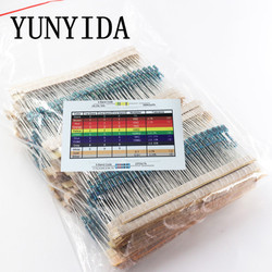 2600 pces 130 valores 1/4 w 0.25 w 1% resistores de filme de metal sortidas pacote kit conjunto lote resistores sortimento kits capacitores fixos