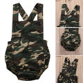 2017 Cotton Newborn Infant Baby Girl Boy Romper Sleeveless Camouflage Sunsuit Outfits baby clothing rompers