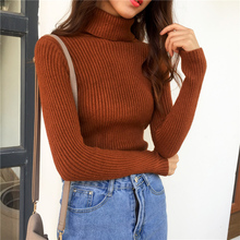 Pull Femme 2018 Vogue Turtleneck Women Sweaters Pullovers Sueter Mujer Long Sleeve black White Knitted Winter Clothes