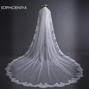 New Arrival Ivory Lace Edge Sexy Bridal veil 2020 sluier Wedding with comb Velo de novia veu noiva longo bridal
