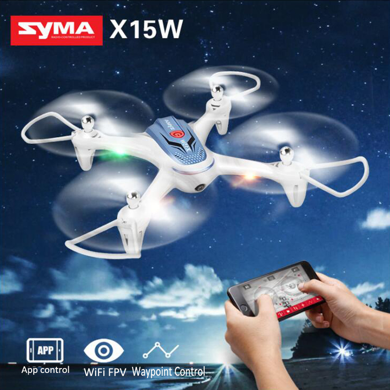 Syma X15W RC Drone with 0.3MP Camera WiFI FPV RC Quadcopter G-sensor Barometer Set Height Headless Mode RC Helicopter