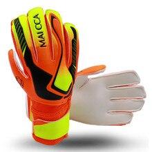 Детские Взрослые размер футбольные перчатки вратаря Профессиональный толстый латексный футбольный вратарь перчатки с защитой пальцев 5 пальцев сохранить
