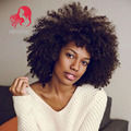 Wholesale short afro kinky curly wigs synthetic heat resistant short black/brown synthetic wig for black women