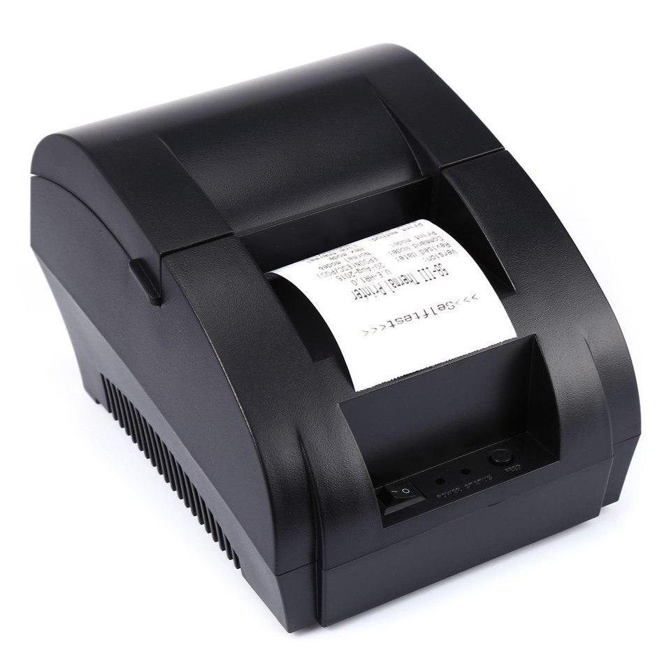 Receipt Printer 203dpi printer mini Ticket POS58mm Thermal Printer USB Interface Restaurant Bill Printer