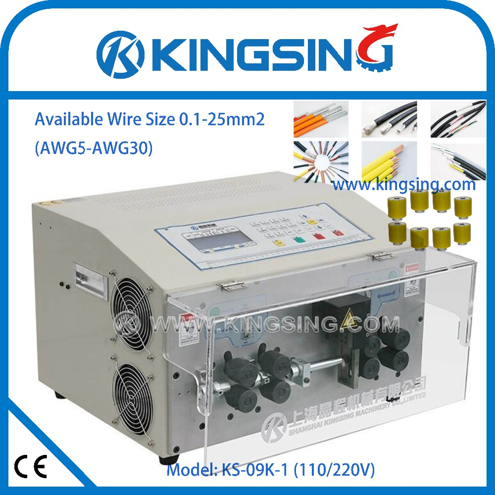 hight resolution of fully automatic kingsing big wire cutting stripping machine ks 09k 1 big cable stripping machine free shipping by dhl