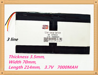 3 Line 3570214 3 7V 7000MAH Rechargeable Batteries 3510770 2 Tablet Battery Brand Tablet Gm Lithium