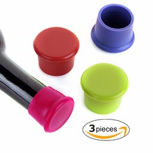 3pcs silicone wine stoppers Leak free wine bottle sealers for red wine and beer bottle cap wine bottle set colorful remote control wine tray lamp beer cocktail red wine bottle bar light wine tray luminous night light