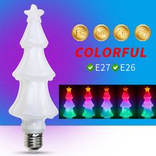 E14 LED Flame Bulb E26 Fire Effect Lamp 220V E27 RGB Color Dynamic Flickering Christmas Decoration Light