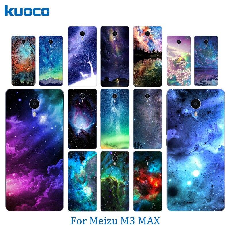 Мягкий силиконовый Телефонные Чехлы для meilan Max Meizu M3 Max Мода 6.0 дюймов В виде ракушки Чехлы для мангала кожи ультра тонкий Pattern звездное небо ...