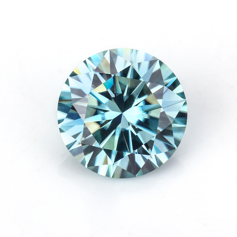 blue moissanites 5.5mm loose gems jewelry round brilliant cut beads