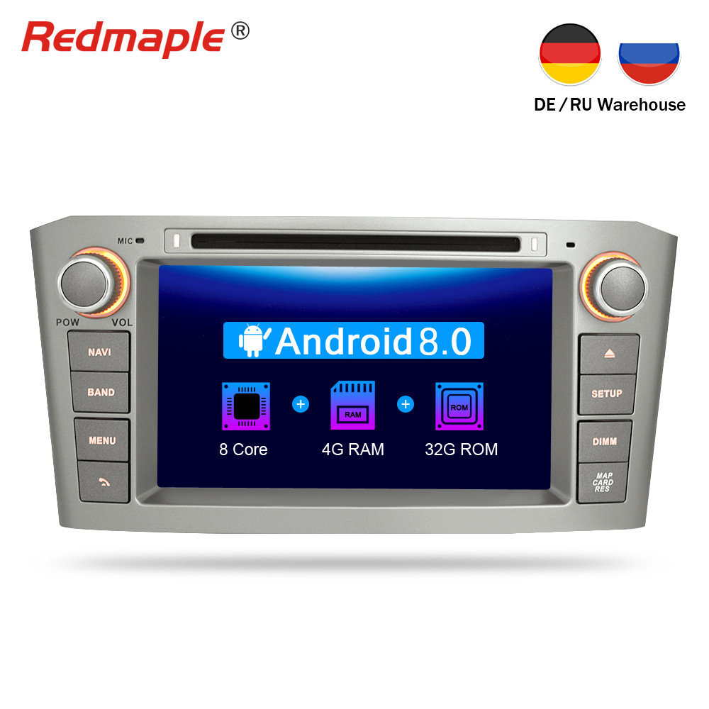Android 8.0 Car DVD player GPS Navigation Multimedia Stereo For Toyota Avensis T25 2003-2008 Auto Bluetooth Radio Audio Headunit