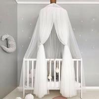 Crib Netting Palace Lace Princess Bed Valance Children Room Bed Curtain Dome Comfy Kids Mantle Mosquito Net Tents