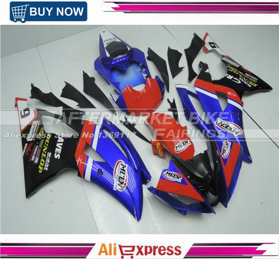 Thick clear coats painted abs fairing body for yamaha fairings yzf r6 08-14 custom design oem fitment