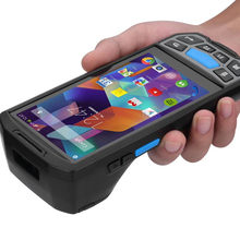 Pda Android dengan Built In Thermal Printer Genggam 2D Honeywell 6603 QR Kode PDA Barcode Scanner dan Printer POS Terminal(China)