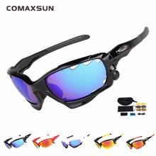 COMAXSUN profesjonalne polaryzacyjne okulary rowerowe gogle rowerowe sportowe okulary przeciwsłoneczne UV 400 z 3 obiektywem 6 Color tanie tanio z comaxsun STS815 Mężczyzn Wielu 65cm Spolaryzowane Octan Plastikowe 4 5 cm