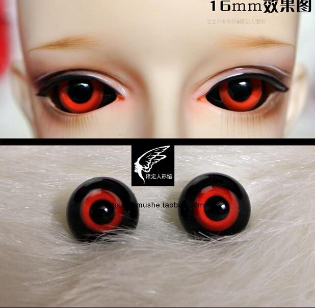 18mm 16mm warna merah hitam tokyo ghoul untuk dod aod bjd dollfie kaca mata  outfit 681050db41