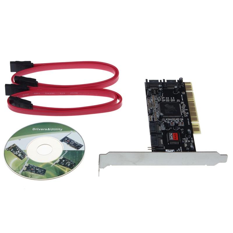 4 SATA Hard Disk Drives to PC,Serial-ATA,PCI controller card,softwareRAID