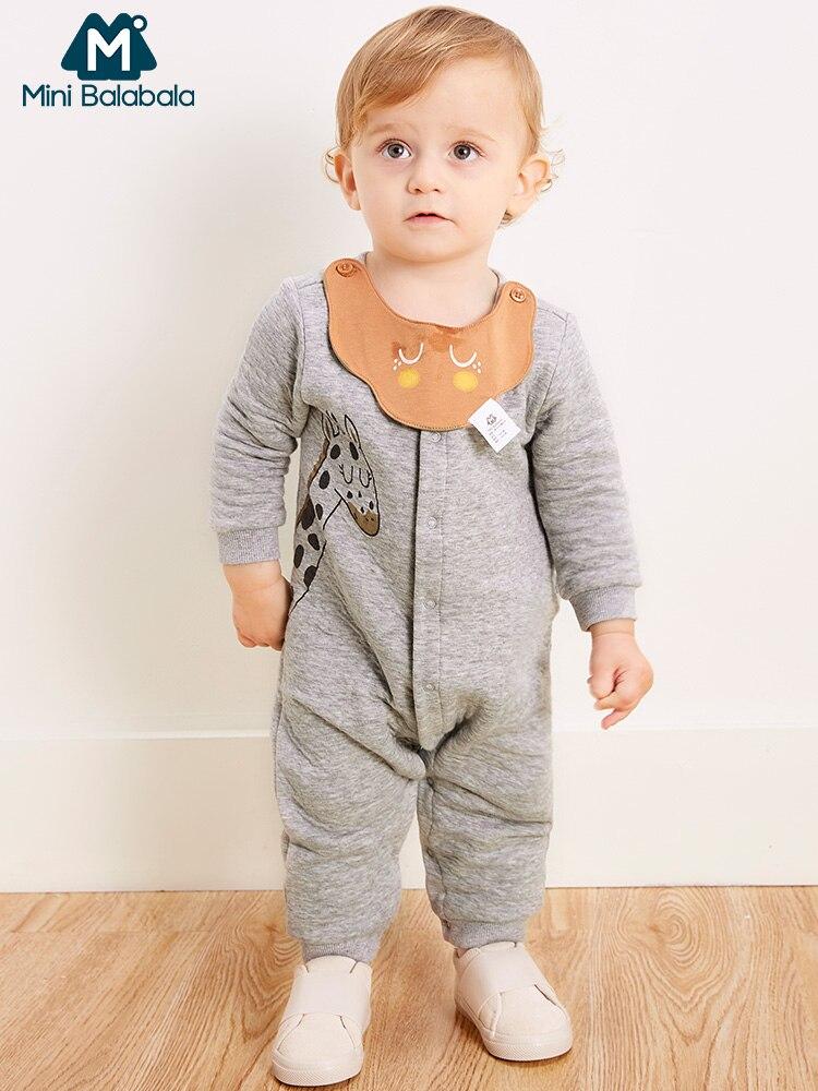 Mini Balabala bebé jirafa gráfico mono bebé recién nacido niños niñas suave de algodón impresa mameluco ropa de una sola pieza