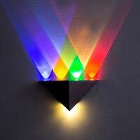Triângulo Modern Lâmpada Led Wall AC90-265V Alta Potência luz Conduzida da parede Iluminação Doméstica de alumínio levou luminária de parede para a decoração home