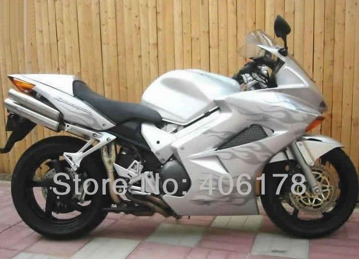 Горячие продаж,обтекателя Комплект для Honda VFR800 02-12 vfr800 ПВП 800 2002-2012 серый пламя мотоциклов Обтекателя Kit (литье под давлением)