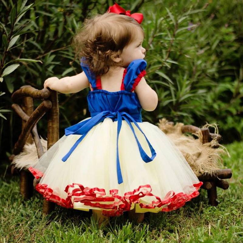 Princess Dresses for Girls Birthday Party Dress Cosplay Costume Children's Tulle Dress Baby Girl Tutu Dress Infant 1-4 Years