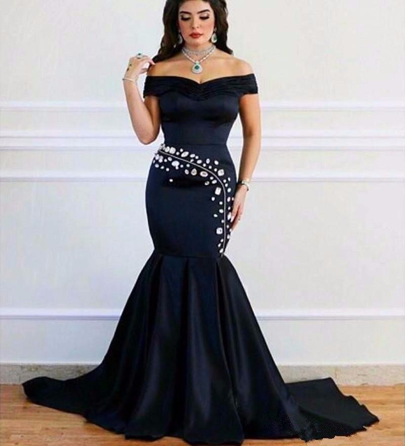 Black prom dresses with diamonds 2017