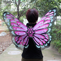 90*70cm Adults Kids Fairy Angel Wing Costume Fancy Dress Up color wing Small Size for party