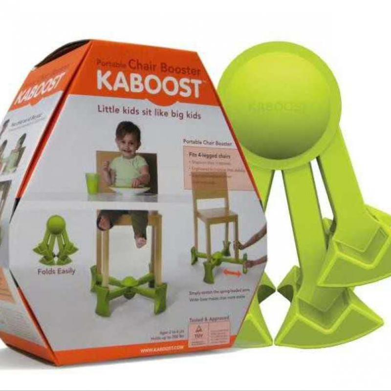 Kaboost Portable Chair Boosters Traveling Seat Portable For Child Lift Under Fits Most Chairs Adjustable Non Slip Green