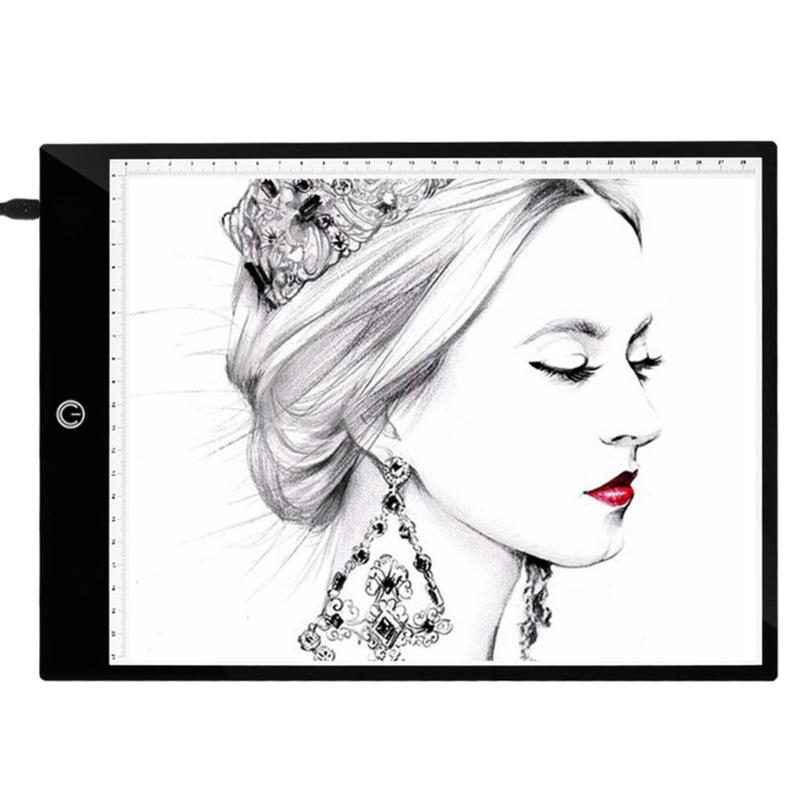 A4 Digital Drawing Tablet 3 Type Dimming Modes LED Tracing Copy Board Drawing Painting Digital Graphic Tablet for Children Kids