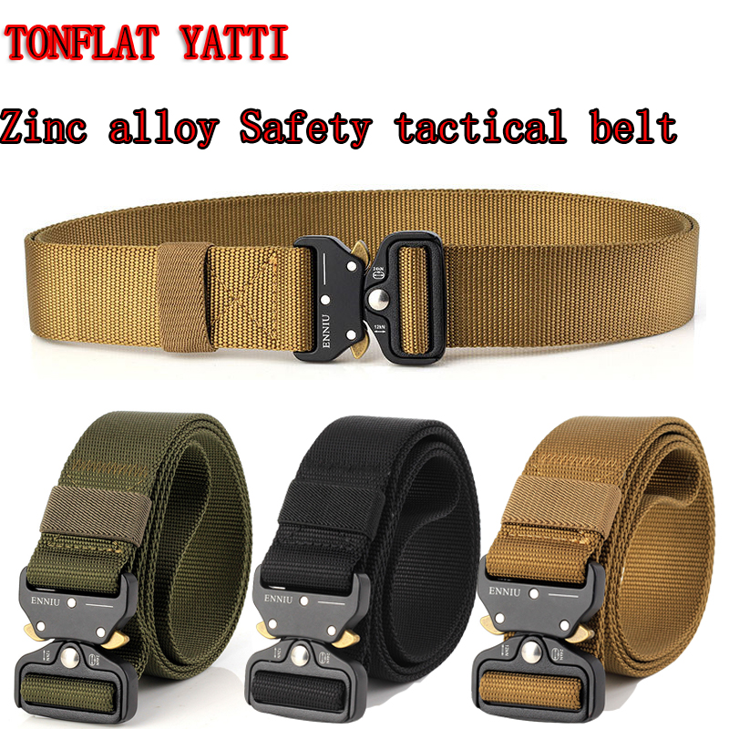 Hot! New 2019 Zinc Alloy Buckle Fast Open Tactical Belt 3.8cm 1000D Oxford Cloth  Military Army Equipment Combat Belt 3 Colors