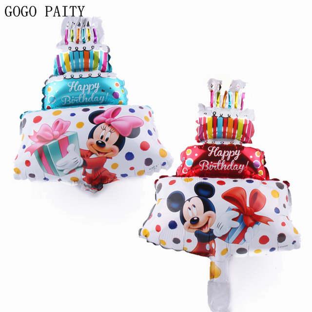 Amazing Gogo Paity Hot Mickey Minnie Birthday Cake Balloon Birthday Party Funny Birthday Cards Online Overcheapnameinfo