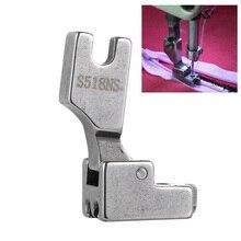1 шт. новая прижимная лапка для шитья из нержавеющей стали S518NS невидимая молния с низким хвостовиком и защелкой, аксессуары для швейной машины