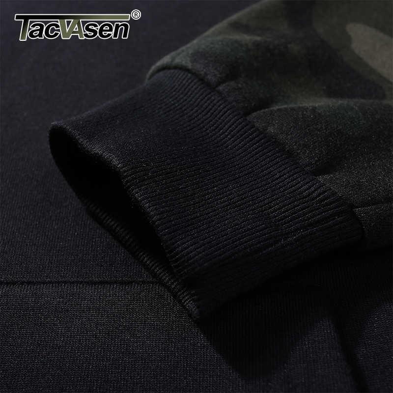 TACVASEN הסוואה מעילי גברים סלעית חולצות מקרית צמר צבאי טקטי מעיל מעיל סתיו דק Camo נים בסוודרים