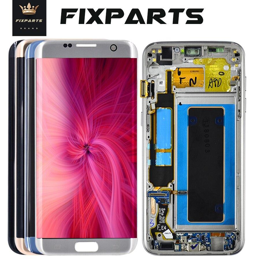 100% getestet Für SAMSUNG S6 rand G925 LCD Display Touchscreen Digitizer Montage Für SAMSUNG GALAXY S7 rand G935 F LCD Display