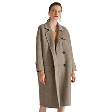 Autumn And Winter coat women two-sided trench wool cashmere overcoat oversize women high-end wool windbreaker coat women S109-A