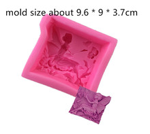 Flower Fairy Girl Butterfly Pattern silicone soap mold Hand Made Soap Silicone Mould