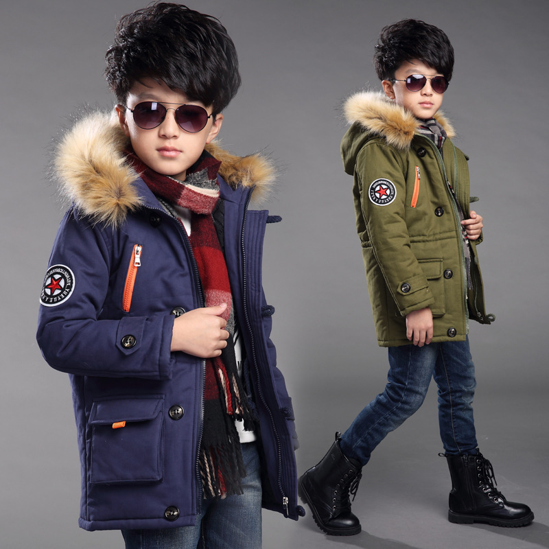 2017 boys  childen winter jackets for Boys down Jackets Coats warm Kids baby thick cotton down jacket cold winter HW2024 new 2017 russia winter boys clothing warm jacket for kids thick coats high quality overalls for boy down