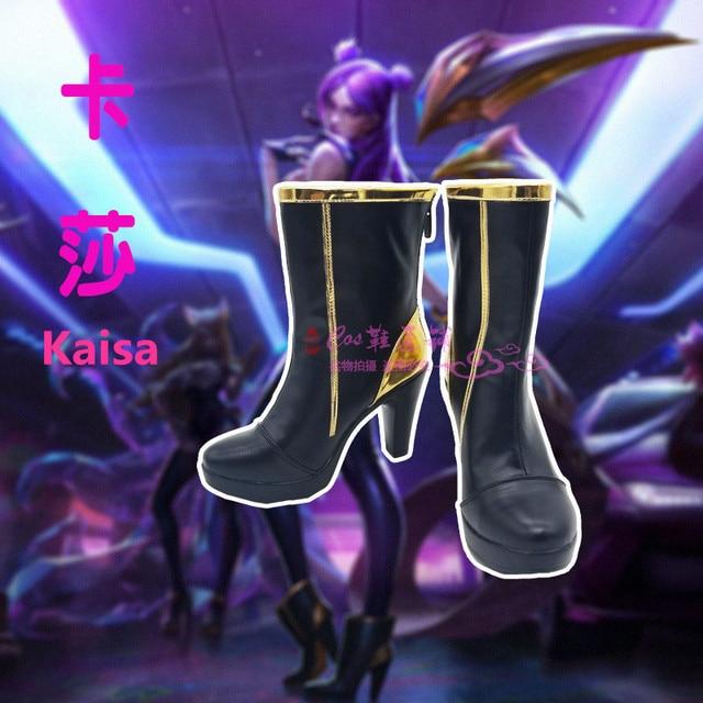 Anime! LOL KDA Ahri Akali Kaisa Evelynn Cosplay Shoes K/DA Boots For Women 2018 Hot Game Custom-made Size Free Shipping 4
