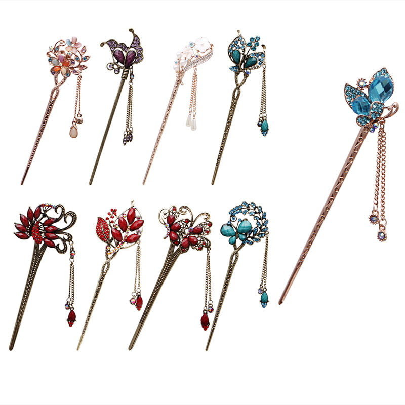 Various Retro  Women Elegant Bobby Pin Colorful Hairpin Rhinestone Hair Stick обои loymina phantom артикул photo6 005 2