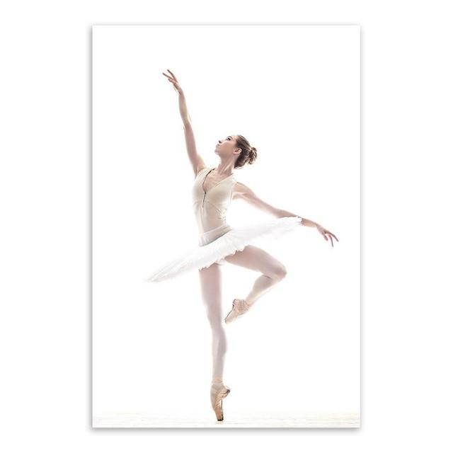 Modern Ballet White Swan Beautiful Girl Dancer Art Prints Poster ...