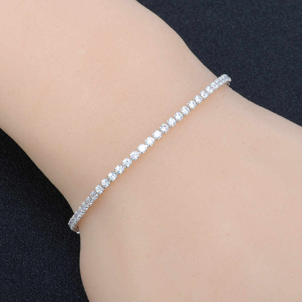 Gaya Liar Gelang Fashion Wanita Kristal Berlian Imitasi Wanita Gelang Perhiasan Gelang Disesuaikan Panjang Kualitas Tinggi Emas L0330