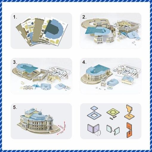 Världsberömd arkitektur3D pusselmodell Ukraina Bulidingmodell - Spel och pussel - Foto 4
