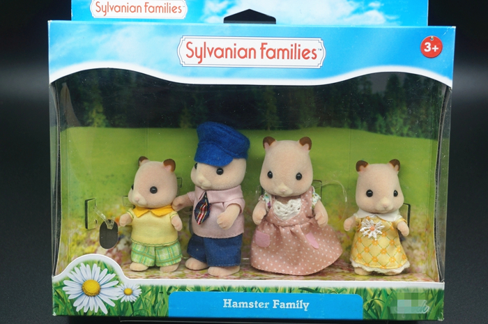 original Sylvanian Family of Hamster family mini size action Figures Anime Cartoon figures Child gift