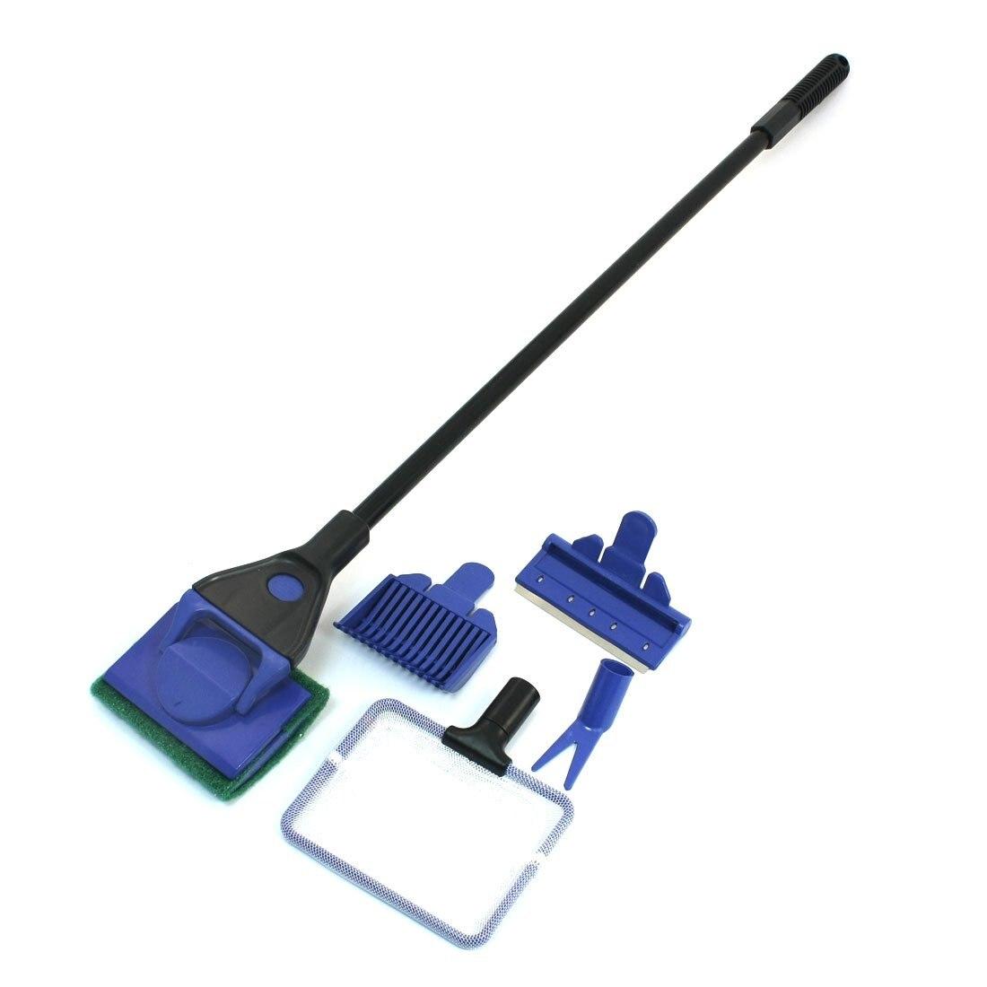 Blue Black Nonslip Handle Net Aquarium Tank Cleaning Tool Cleaner Sets|aquarium tank clean set|aquarium cleaning set|aquarium cleaning - title=