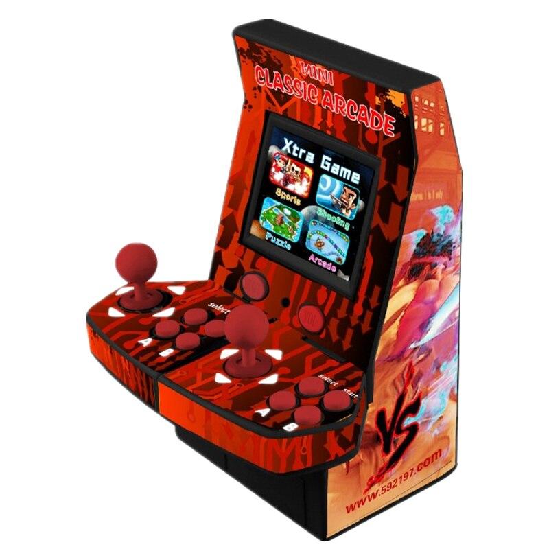 2.2 pouces LCD monnayeur Mini Arcade Machine Jeu Classique 645 En 1 PCB arbre long joystick bouton Lumineux