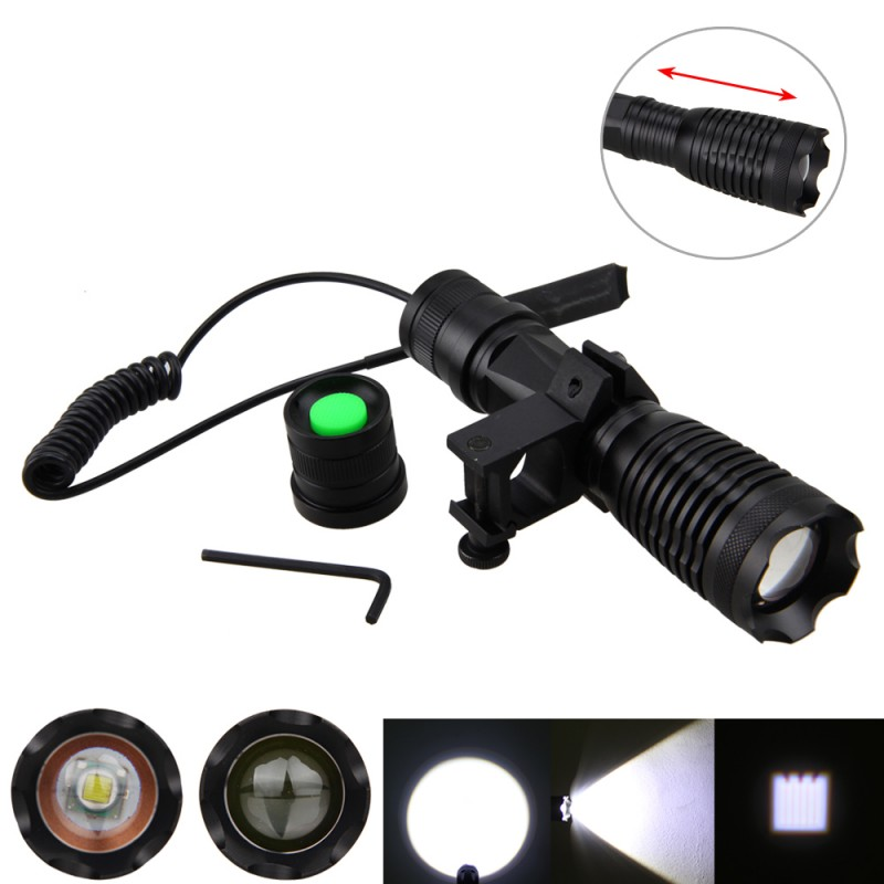 5000LM XM-L T6 LED Front Bike Light Bicycle Safety Flashlight Torch with Mount On Handlebar +Battery+Remote Pressure Switch