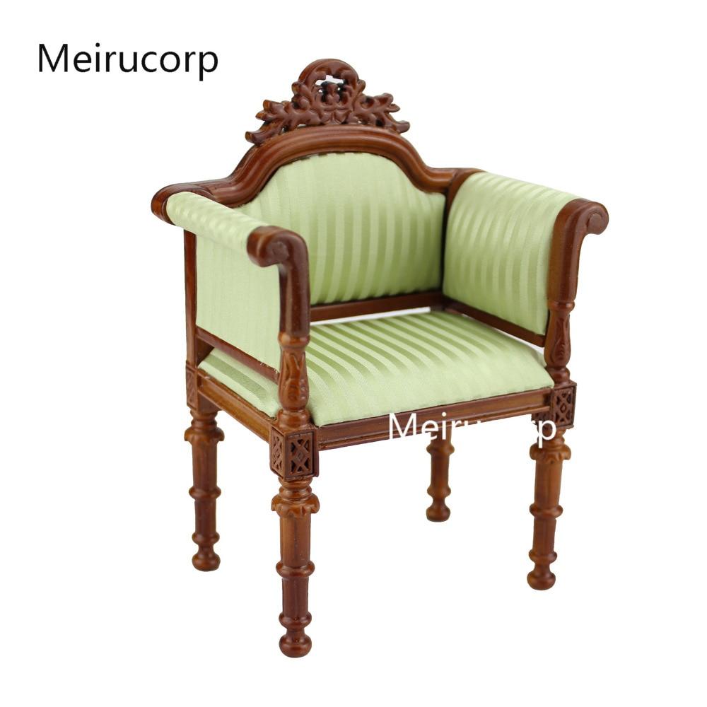 1/6 échelle Fine poupées meubles exquis rayure motif tissu chaise