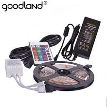 RGB Светодиодная лента светильник SMD5050 5 м 60 Светодиодный/м гибкая лента Водонепроницаемая неоновая лента ИК пульт дистанционного управления адаптер питания DC12V 5A