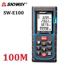 SNDWAY Telémetro de Mano RZ100 $ number pies Zona trena Laser Range Finder Medidor de Distancia Digital de volumen-herramientas probador de medición de Ángulo